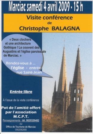 Affiche 1 conf Ch Balagna 4 avril 2009