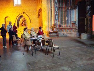 Eglise 3 visiteurs et diaporama fds bapt
