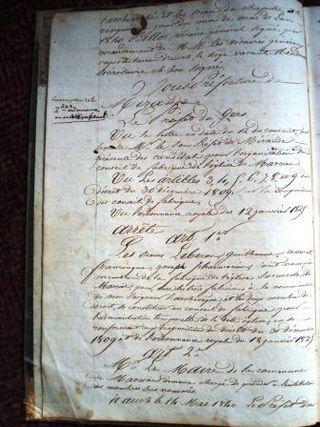 Reg Par 1840 p2 Préfet nominations 82