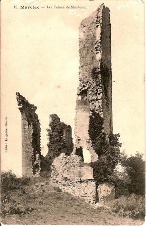 Carte ancienne ruines Monlezun 1 comp