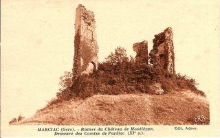 Carte ancienne ruines 2 Monlezun comp