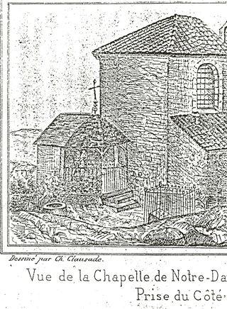 NDC dessin de Charles Clausade 1850 1851 focus pavillon tombe