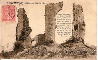 Carte ancienne ruines 3 mur Molezun comp