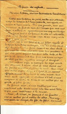1915 discours aux écoles p3 réponse enfants 1 comp
