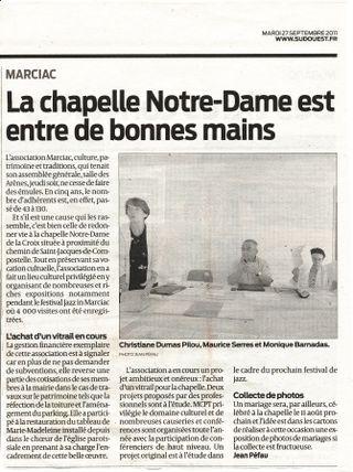 Article presse Sud Ouest Péfau