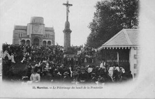 CPA - NDC - pèlerinage -avant plantation parc