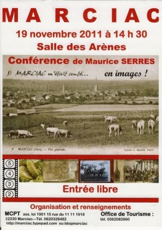 Affiche conf 19 11 2011 Maurice Serres Si Marciac m'était conté en images v1 comp