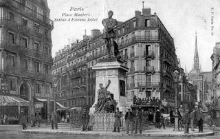 Etienne Dolet place Maubert Paris image google