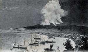 Eruption7mai-Montagne Pelée Martinique  1902