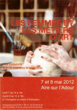 Pub expo Les femmes et les métiers d'art 7 8 mai 2012 Aire sur Adour comp