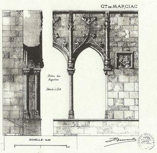 Cloître détail dessin Drac 1887 comp