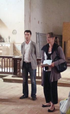 LR accueil du maire et de son épouse 1 en l'église St Laurent 1 comp
