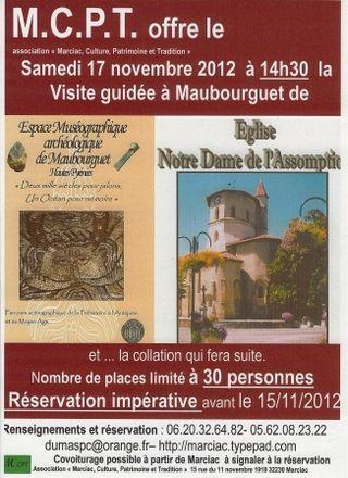 MCPT à  Mauburguet 17 11 2012  à 14h30 visite guidée musée et église NDA 2 comp