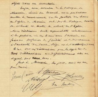 Fabrique NDA dernière délibération 10 12 1905 p 2 comp