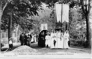 5 CPA -retour procession de Troncens - NDC