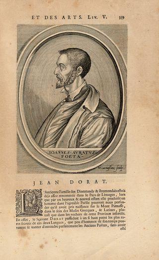 Jean Dinemandi dit Jean Dorat 1508 1588 écrivain français prof de Rosard Du bellay mb Pléiade