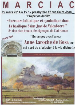 2014 03 03  affiche conférence du 29 mars Anne Laroche de Rosa COMP