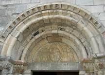 Basilique St Just de Valacabrère tympan