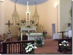 Eglise 0 choeur fleuri