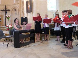 Patricia Laralde et la chorale a
