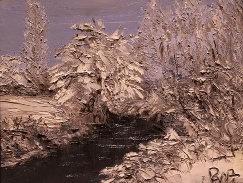 Arros sous neige (24x19)