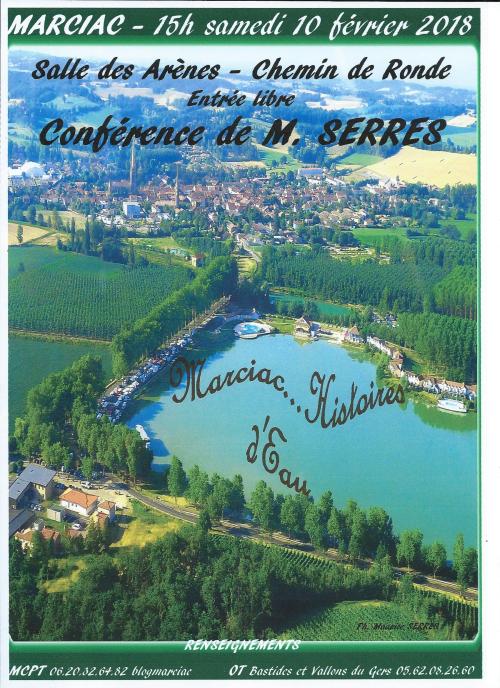 MCPT 10 02 2018 à 15h conférence M SERRES salle des Arènes Marciac
