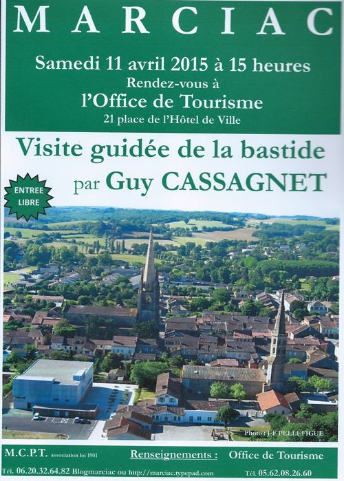 Visite conférence G Cassagnet 11 04 2015 Bastide Marciac