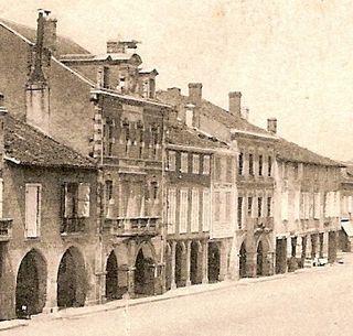 Maison des abbés place vue du midi XIXe s