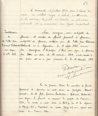 6  0 Desbarat Jean  Ferdinand instal 21 12 1919