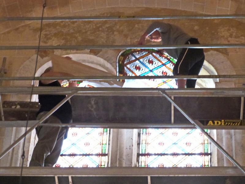 3 sces techniques M lascombes travaux pour ajuster vitrail