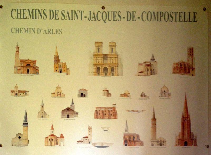 Amis St Jacques affiche 1 voie d'Arles