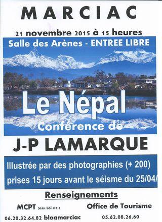 2015 11 21 LAMARQUE le Népal MCPT