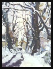00 paysage d'hiver l'allée sous la neige Vialer Roger LAUT