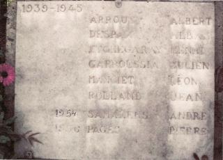 3 Samalens Marciac monument aux morts