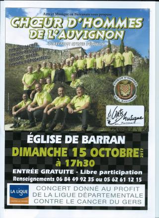 Affiche BARRAN 15 10 2017