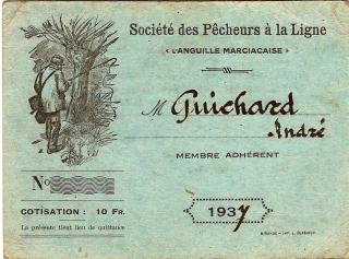 Pêche à marciac en 1937 Guichard