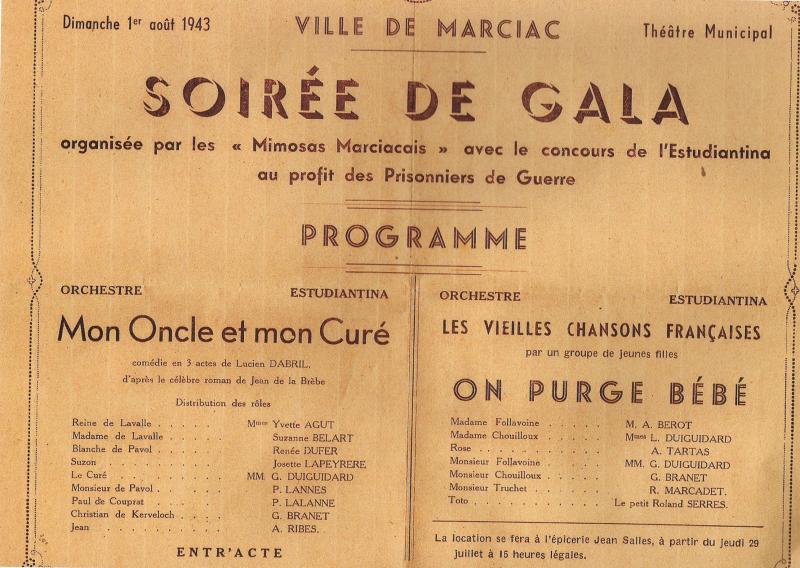 32 Théâtre 1 08 1943 programme