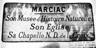 00 plaque ancienne d'entrée de ville Marciac