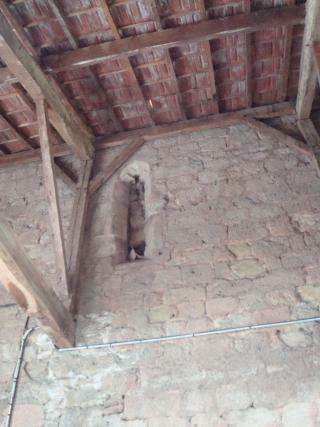 13 Cvt aug église mur sud ouverture  rue gimont