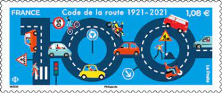 2021 05 27 100 ans code route timbre poste 1