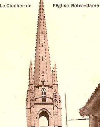 10 NDA salle des cloches clocher et tambour à 4 baies ogivales après restauration