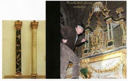 2 NDA avant restauration autel 1 A LACOSTE