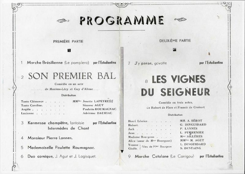 31 Théâtre 7 septembre 1941 programme