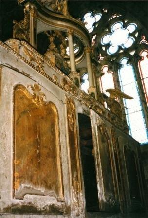 4 5 arrière buffet 4 autel  classé en mezzanine 1er étage clocher détail du buffet